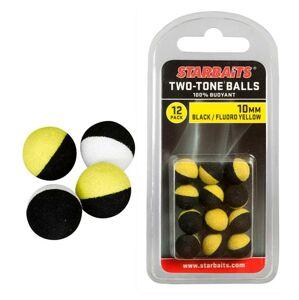 Starbaits plávajúce guličky two tones balls-14mm čierna / žltá (plávajúca gulička) 6ks