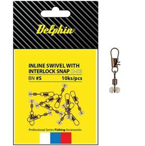 Delphin obratlík s prejazdom inline head swivel with interlock 10 ks