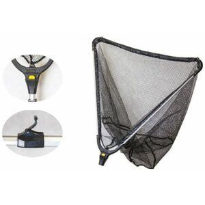 Mistrall podběrák s gumovou síťkou 2 díly-dĺžka 2,2 m / rozmer 70x70 cm