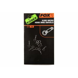 Fox obratlík na háčik edges kuro micro hook ring swivels 10 ks