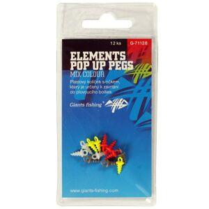 Giants fishing kolíček s očkom elements pop up pegs mix colour 12 ks
