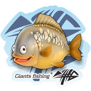 Giants fishing nálepka veľká kapor detská