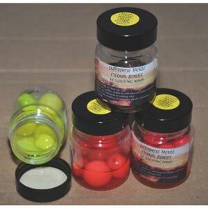 Enterprise imitácia boilies v dipe 8 ks-krab/malina fluo rúžová