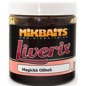 Mikbaits liverix boilie v dipe  250 g-mazaná škebľa 16mm