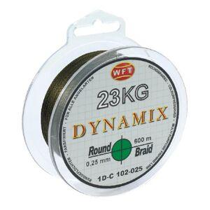 Wft splietaná šnúra round dynamix kg žltá - 150 m 0,10 mm 10 kg