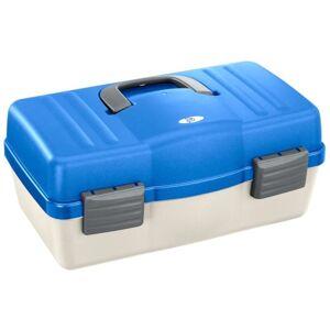 Plastica panaro rybársky kufrík 136/4-poschodový bielo-modrý