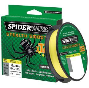 Spiderwire splietaná šnúra stealth smooth 12 hi-vis žltá 150 m - 0,06 mm 5,4 kg