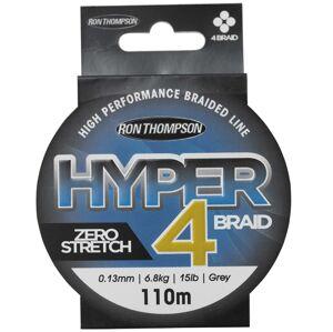 Ron thompson splietaná šnúra hyper 4 braid grey 110 m-priemer 0,10 mm / nosnosť 4,5 kg