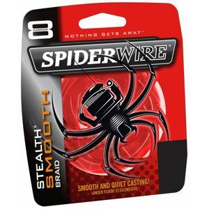 Spiderwire splietaná šnúra stealth smooth 8 červená-priemer 0,12 mm / nosnosť 10,7 kg / návin 1 m