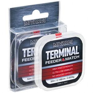 Mivardi vlasec terminal feeder & match 50 m-priemer 0,185 mm / nosnosť 3,92 kg