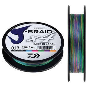 Daiwa splietaná šnúra j-braid dark green 150 m-priemer 0,20 mm / nosnosť 13 kg