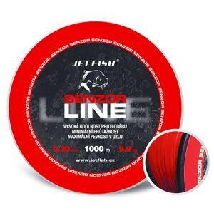 Jet fish senzor line red 1000 m-priemer 0,25 mm / nosnosť 7,8 kg