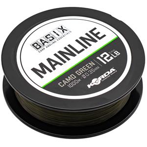 Korda vlasec basix main line camo green 1000 m - 0,35 mm 5,4 kg