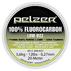 Pelzer - návazcový vlasec  fluorocarbon 20 m crystal-priemer 0,37mm / nosnosť 20lb / 9kg