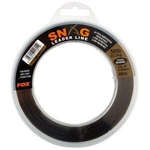 Fox šokový vlasec snag leaders camo-priemer 0,47 mm / nosnosť 13,6 kg / návin 100 m