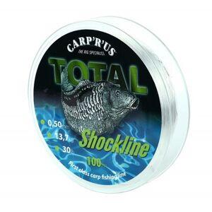 Carp ´r´ us šokový vlasec total shock line 100 m hnedá-priemer 0,60 mm / nosnosť 24,9 kg