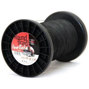 Hell-cat splietaná šnúra round braid power black 200 m-priemer 0,80 mm / nosnosť 100 kg