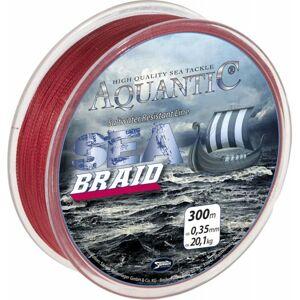 Saenger aquantic pletená šnúra sea braid červená 300 m-průměr 0,18 mm / nosnost 9,2 kg