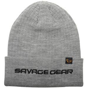 Savage gear čiapka fold up beanie one size light grey melange