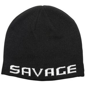 Savage gear čiapka logo beanie one size black white