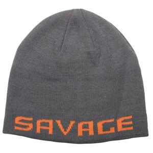 Savage gear čiapka logo beanie one size rock grey orange