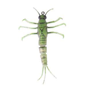 Savage gear gumová nástraha 3d tpe mayfly nymph green - 5 cm 2,5 g