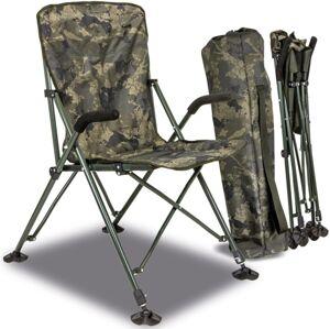 Solar kreslo undercover camo foldable easy chair high