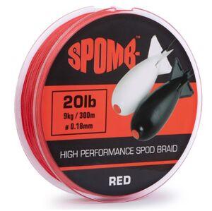 Spomb splietaná šnůra braid red 300 m - 0,18 mm - 9 kg