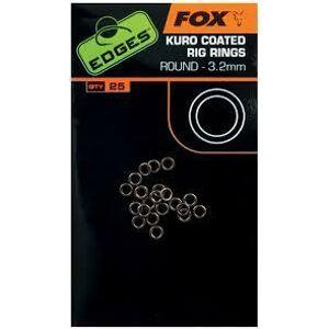Fox krúžky kuro coated rig rings 25 ks-veľkosť 2,5 mm
