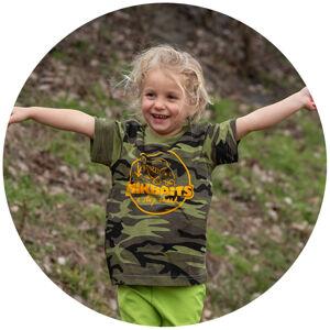 Mikbaits detské tričko camou - 8-12 rokov