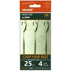 Life orange nadväzce carp hair rigs s1 14 cm 3 ks - 4 25 lb
