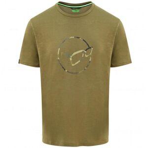 Korda tričko le distressed logo tee olive - m